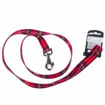 Поводок нейлоновый Ferplast Club, 120 см*2 см, красная шотландка