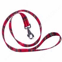 Поводок нейлоновый Ferplast Club, 120 см*2,5 см, красная шотландка