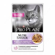 Pro Plan Delicate Cat (Индейка), пауч, 85 г