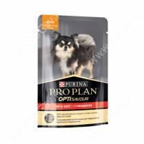 Pro Plan Small&Mini Adult (Говядина), пауч, 100 г
