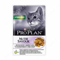 Pro Plan Sterilised Cat (Индейка в желе), пауч, 85 г