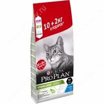 Pro Plan Sterilized Cat (Кролик), 12 кг АКЦИЯ 2 кг в подарок