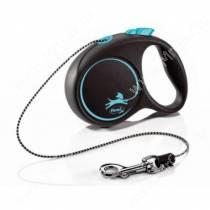 Рулетка Flexi Black Design Basic XS, до 8 кг, 3 м, голубая