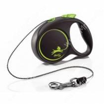 Рулетка Flexi Black Design Basic XS, до 8 кг, 3 м, зеленая