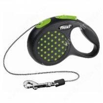 Рулетка Flexi Design Mini, XS, до 8 кг, 3 м, зеленый горошек