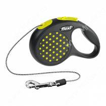 Рулетка Flexi Design Mini, XS, до 8 кг, 3 м, желтый горошек