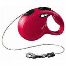 Рулетка Flexi New Classic Basic, S, до 12 кг, 5 м, красная