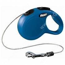 Рулетка Flexi New Classic Basic, S, до 12 кг, 5 м, синяя