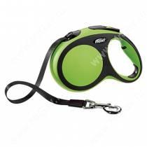 Рулетка Flexi New Comfort Compact, L, до 60 кг, 5 м, зеленая