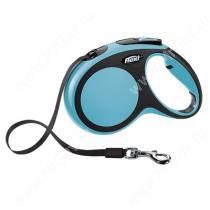 Рулетка Flexi New Comfort Compact, M, до 25 кг, 5 м, синяя