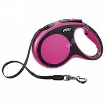 Рулетка Flexi New Comfort Compact, M, до 25 кг, 5 м, розовая