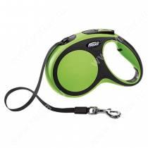Рулетка Flexi New Comfort Compact, M, до 25 кг, 5 м, зеленая