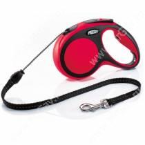 Рулетка Flexi New Comfort, M, до 20 кг, 5 м, красная