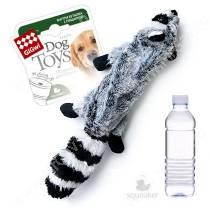 Шкурка енота GiGwi с пластиковой бутылкой, 52 см