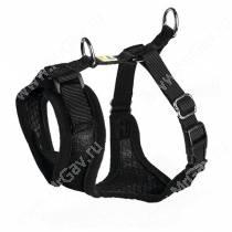 Шлейка для собак Hunter Manoa M,  44-55 см, нейлон, черная