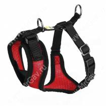 Шлейка для собак Hunter Manoa S,  38-47 см, нейлон, красная
