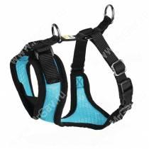 Шлейка для собак Hunter Manoa S,  38-47 см, нейлон, голубая
