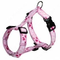 Шлейка нейлоновая Trixie Сердце EASY1, 25-35 см*1 см, розовая