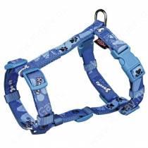 Шлейка нейлоновая Trixie Woof, 25-35 см*1 см, синяя