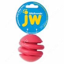 Спиральный мяч JW Silly Sounds  из каучука с пищалкой , средний