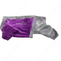 Спортивный костюм из велюра OSSO, 30 см, фиолетовый