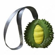 Суперпрочная игрушка Дуриан с лентой, 5,5 см, желто-зеленая
