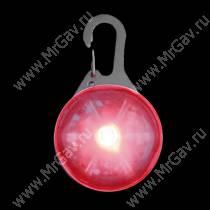 Светящийся брелок с карабином NiteIze, красный
