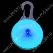 Светящийся брелок с карабином NiteIze, синий