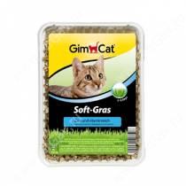 Травка для кошек мягкая с высокой всхожестью GimPet Soft-Gras, 100 г
