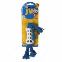 Трубка сетчатая на канате JW Nylon Funnel Rope с ароматом курицы, большая, голубая