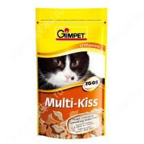 Витамины для кошек Gimpet Multy-Kiss, таурин, 65 шт.