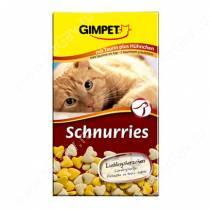 Витамины для кошек Gimpet Schnurries, сердечки, курица + таурин, 50 г