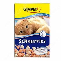Витамины для кошек Gimpet Schnurries, сердечки, лосось + таурин, 50 г