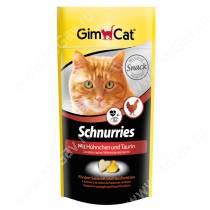 Витамины GimCat Schnurries сердечки курица + таурин, 40 г