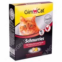 Витамины GimCat Schnurries сердечки курица + таурин, 420 г