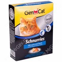 Витамины GimCat Schnurries сердечки лосось + таурин, 420 г