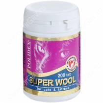Витамины Polidex Super Wool (Супер Вул) для кошек, 200 шт.