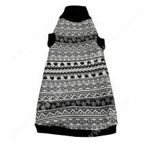 Водолазка для кошек утепленная OSSO, XL, черно-белая