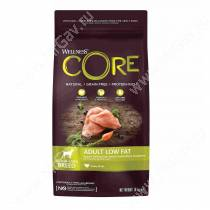 Wellness Core для взрослых собак средних и крупных пород со сниженным содержанием жира из индейки с курицей, 1,8 кг