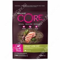 Wellness Core для взрослых собак мелких пород со сниженным содержанием жира из индейки с курицей