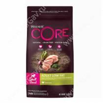 Wellness Core для взрослых собак мелких пород со сниженным содержанием жира из индейки с курицей, 1,5 кг