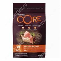 Wellness Core для взрослых собак средних пород из индейки с курицей, 1,8 кг