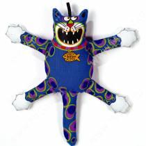 Злобный кот  Fat Cat Mini Terrible Nasty Scaries Dog Toy, малый, синий