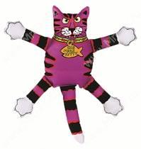 Злобный кот Fat Cat Mini Terrible Nasty Scaries Dog Toy, малый, фиолетовый