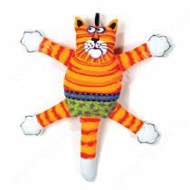 Злобный кот Fat Cat Terrible Nasty Scaries Dog Toy, большой, рыжий
